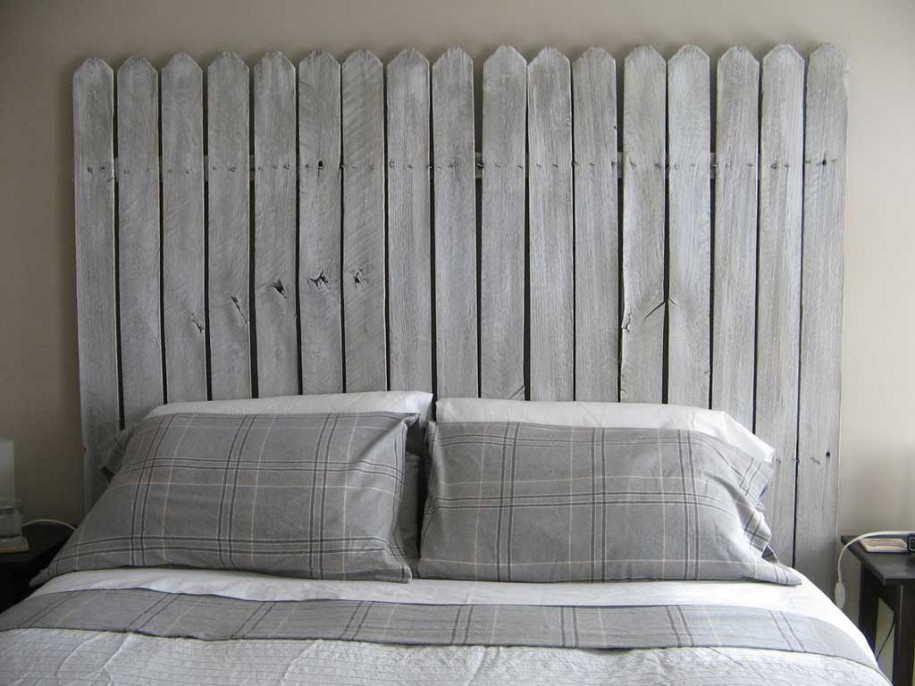 Unique one of a kind headboard you can make some place for Makeshift headboard
